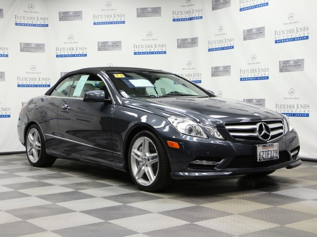 Certified Pre-Owned 2013 Mercedes-Benz E-Class E550 Rear Wheel Drive Convertible